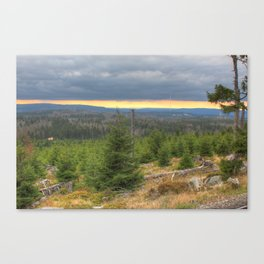 Harz National Park Sunset Canvas Print