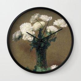 Henri Fantin Latour - Poppies Wall Clock