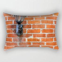 Brick Wall Light Rectangular Pillow