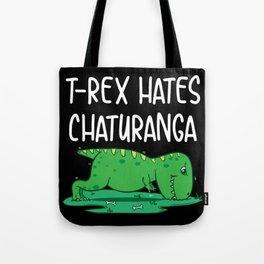 T-Rex Hates Chaturanga Funny Yoga Graphic Tee Gift Tote Bag