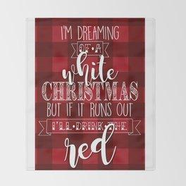 Merry Winemas Throw Blanket