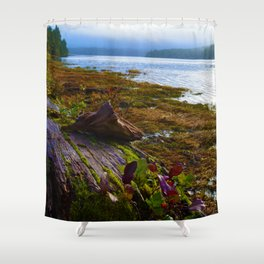 Ucluelet Inlet on an early fall morning Shower Curtain