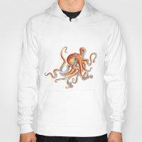 octopus Hoodies featuring Octopus by Patrizia Ambrosini