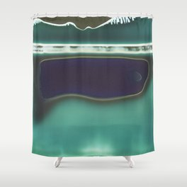 Instang Abstraction in Teal Shower Curtain