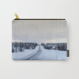 Icy Road in Finland Carry-All Pouch
