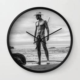 Profile Cowboy Wall Clock