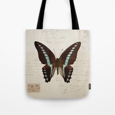 blue spotted butterfly Tote Bag