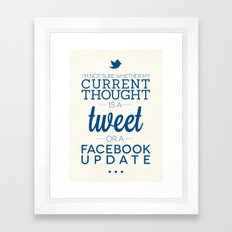 Social Media Framed Art Print