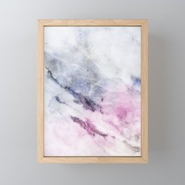 Cosmic pink marble Framed Mini Art Print