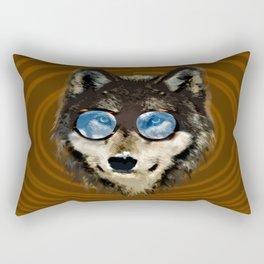 Nerd Wolf Rectangular Pillow