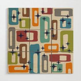 Retro Mid Century Modern Abstract Pattern 224 Wood Wall Art