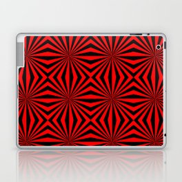 Red Black Dizzy Abstract Pattern Laptop & iPad Skin
