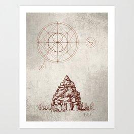 Stars & Stones Art Print