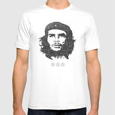 Che Guevara White SMALL Mens Fitted Tee