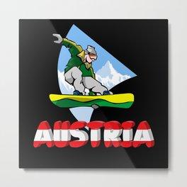 Austria Holiday Eagle Alps Mountains Gift Metal Print