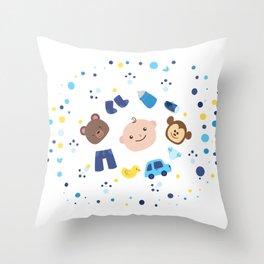 Kids Elements Throw Pillow