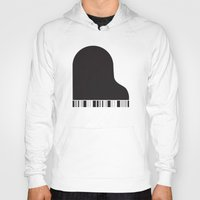 piano Hoodies featuring Piano by Tony Vazquez