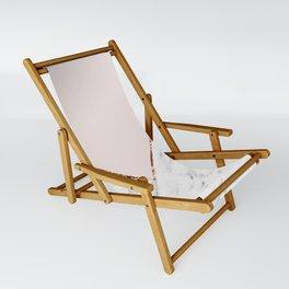 Peony blush geometric marble Sling Chair