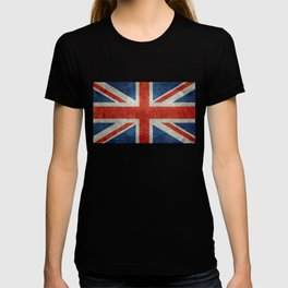 "UK British Union Jack flag ""Bright"" retro T-shirt"
