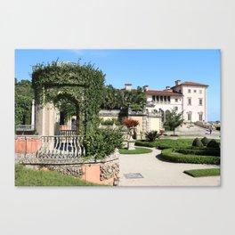 Villa Vizcaya Garden View Canvas Print
