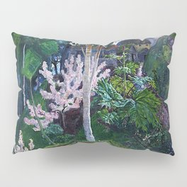 Spring Cherry Blossoms in the Mountains landscape painting by Nicolai Astrup Pillow Sham