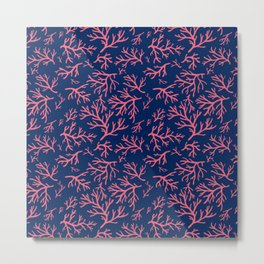Flotsam Coral Metal Print