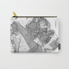Vintage Map of Hawaii Island (1906) BW Carry-All Pouch