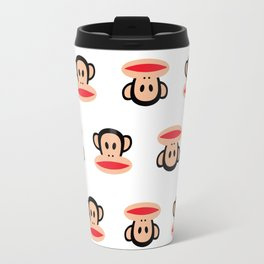 Julius Monkey Pattern by Paul Frank - White  Travel Mug