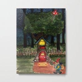 Home Sweet Gnome Metal Print