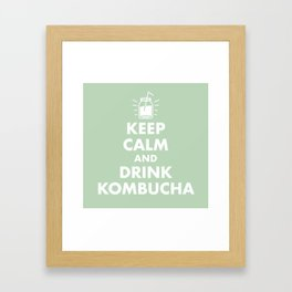 Keep Calm and Drink Kombucha Framed Art Print