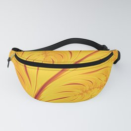 Fall Leaves Abstract Autumn Yellow Orange Gold Leaf Pattern Fanny Pack