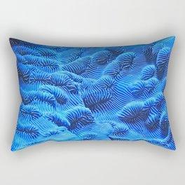 Coral Blue Rectangular Pillow