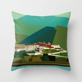 Potala Palace, Lhasa, Tibet, China Throw Pillow