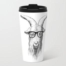 Hipster Goat Travel Mug