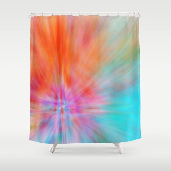 Abstract Big Bangs 002 Shower Curtain