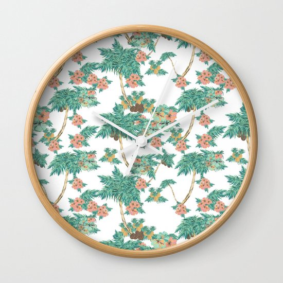 Tropical Kitch Wall Clock