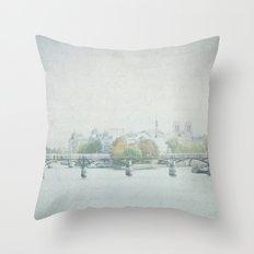 Letters From La Cité - Paris Throw Pillow