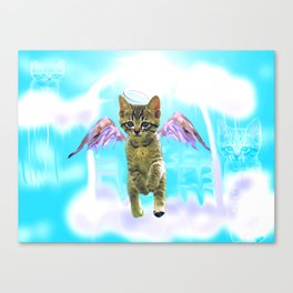 Angel cat Canvas Print
