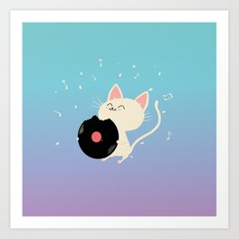 I can't get nooooo catisfaction Art Print