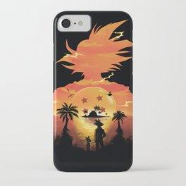 Goku Sunset iPhone Case