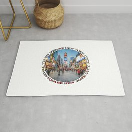 Times Square Sparkle (badge on white) Rug