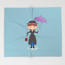 Mary Poppins Throw Blanket