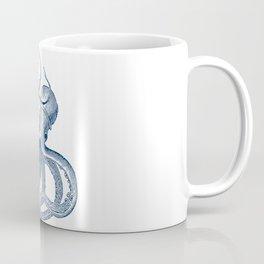 Blue nautical vintage octopus illustration Coffee Mug