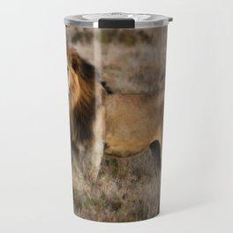 African Lion in Kenya Travel Mug