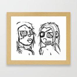 Monstrum Femina Framed Art Print