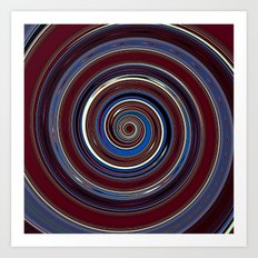Re-Created Spin Painting (Midnight & Burgundy) by Robert S. Lee Art Print