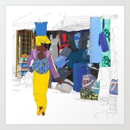 Kedougou Market Art Print