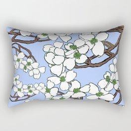 Dogwood perinkle Rectangular Pillow
