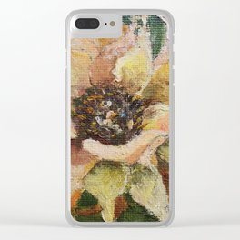 Flower. Цветок. Миниатюра. Масло. Картина маслом. physalis Clear iPhone Case
