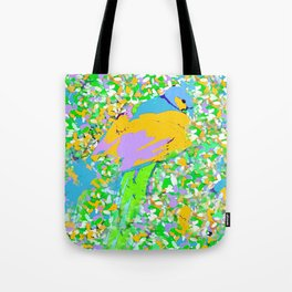 PEACOCK PAINTERLY PARADISE Tote Bag